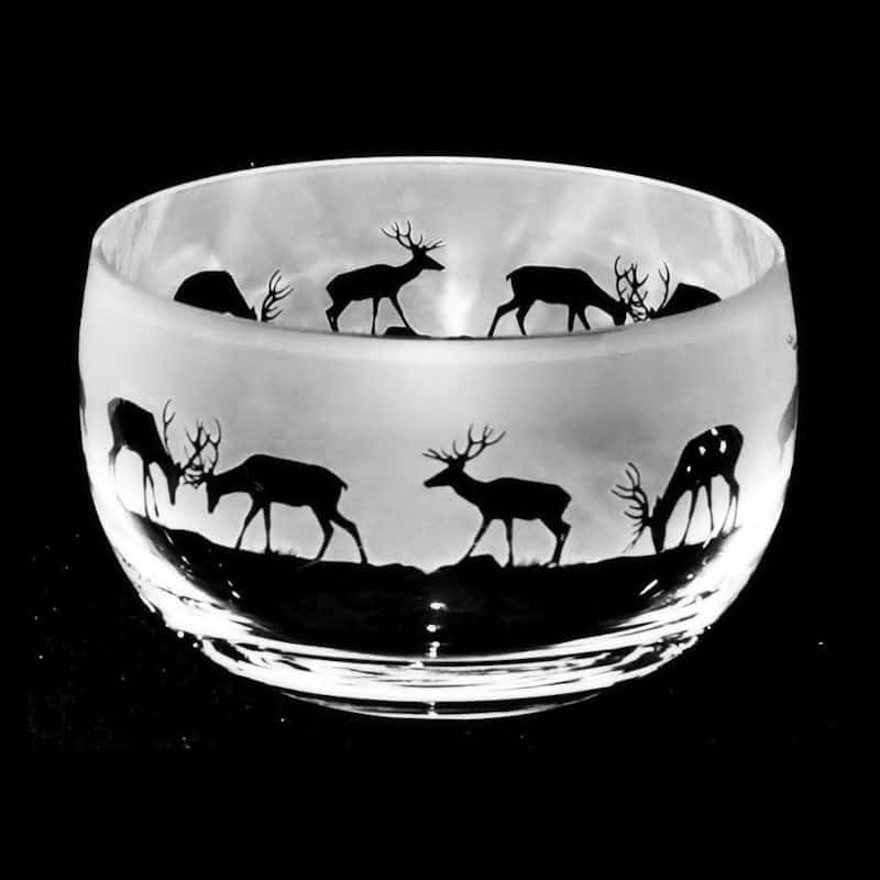 STAG Small Crystal Glass Bowl