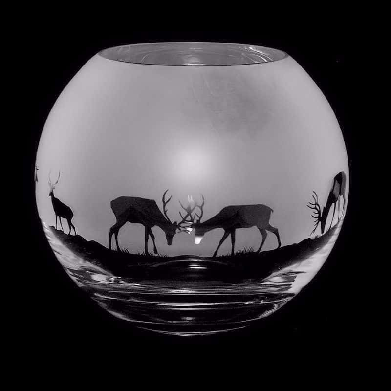 STAG Small Crystal Glass Globe Vase