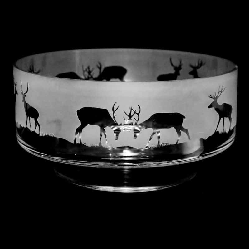 STAG  14cm Small Crystal Glass Footed Comport Bowl