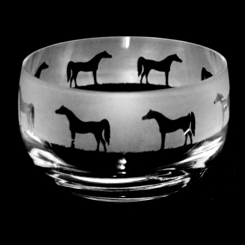ARABIAN HORSE Small Crystal Glass Bowl
