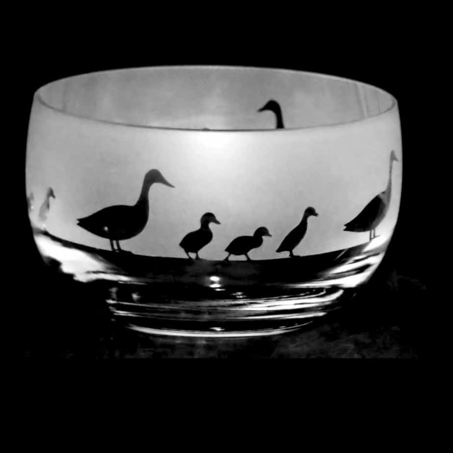 DUCKS Small Crystal Glass Bowl