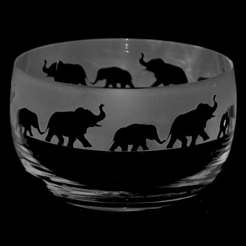 ELEPHANT Small Crystal Glass Bowl