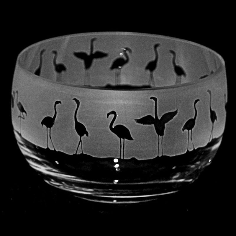 FLAMINGO Small Crystal Glass Bowl
