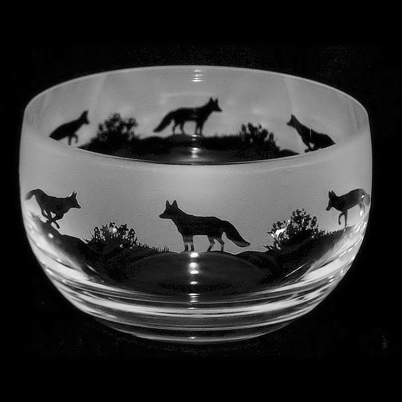 FOX Small Crystal Glass Bowl