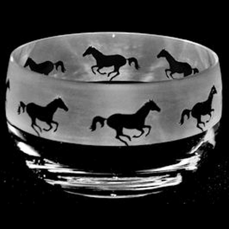 GALLOPING HORSE Small Crystal Glass Bowl