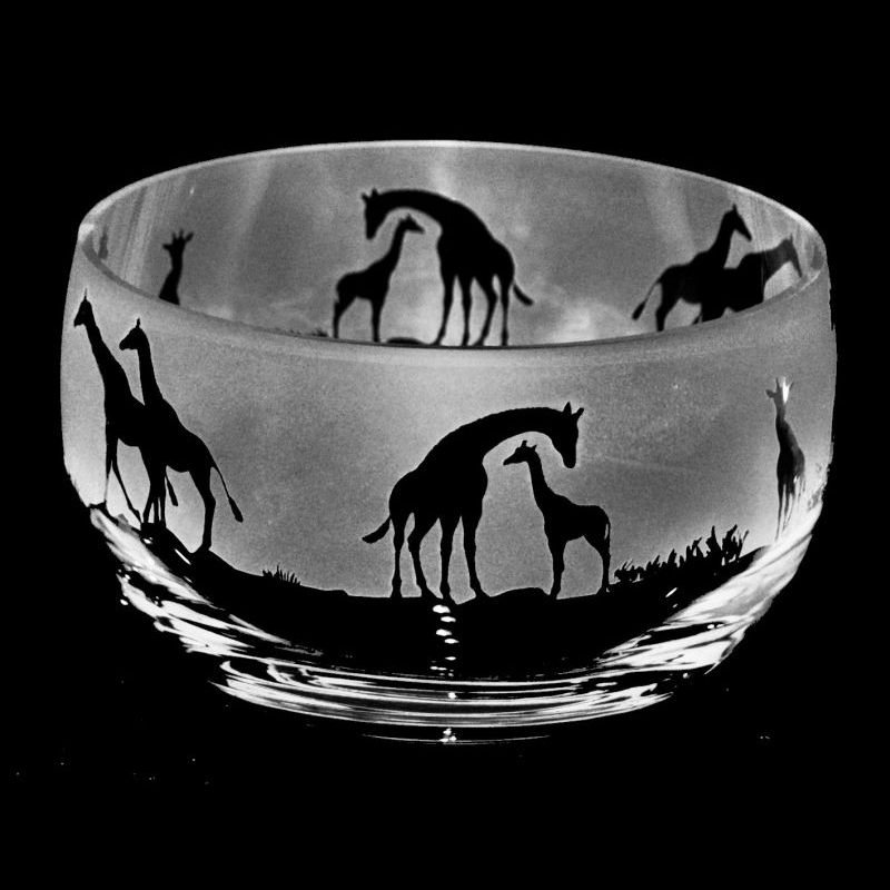 GIRAFFE Small Crystal Glass Bowl
