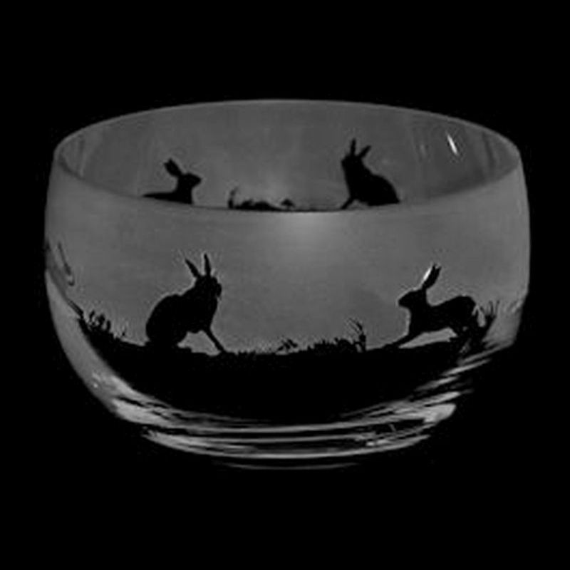 HARE Small Crystal Glass Bowl