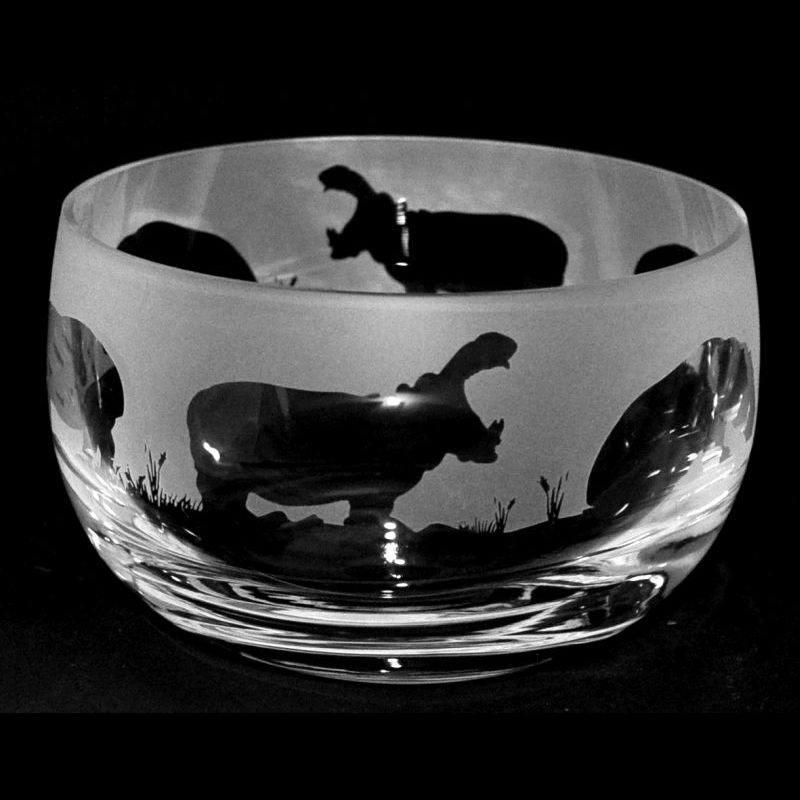 HIPPO Small Crystal Glass Bowl