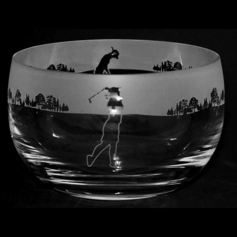 GOLF LADY Small Crystal Glass Bowl
