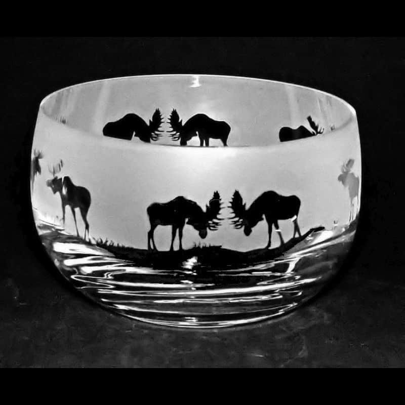 MOOSE Small Crystal Glass Bowl