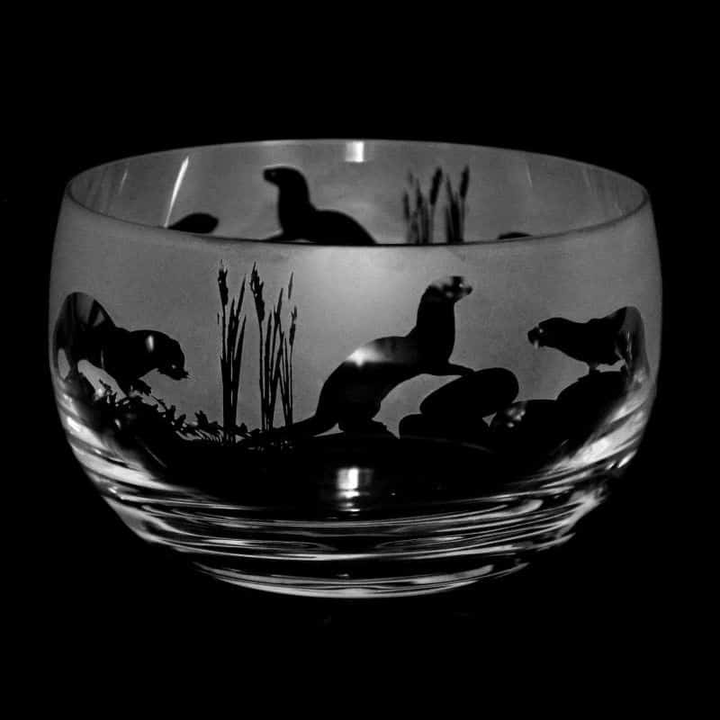 OTTER Small Crystal Glass Bowl