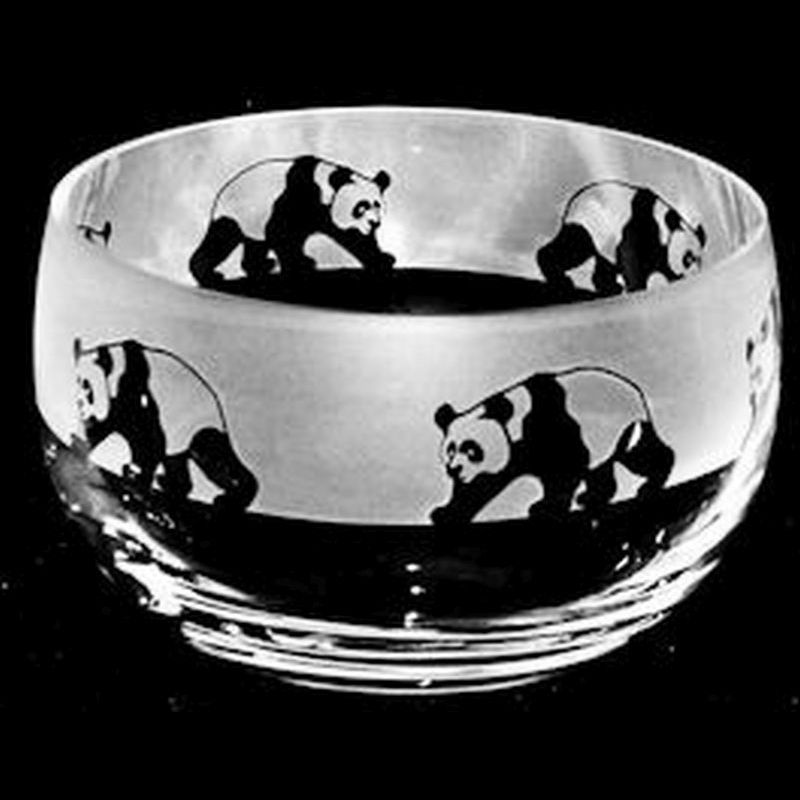 PANDA Small Crystal Glass Bowl
