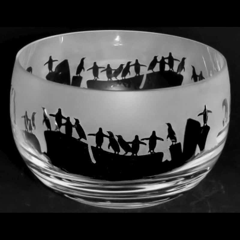 PENGUIN Small Crystal Glass Bowl