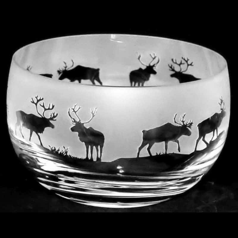 REINDEER Small Crystal Glass Bowl