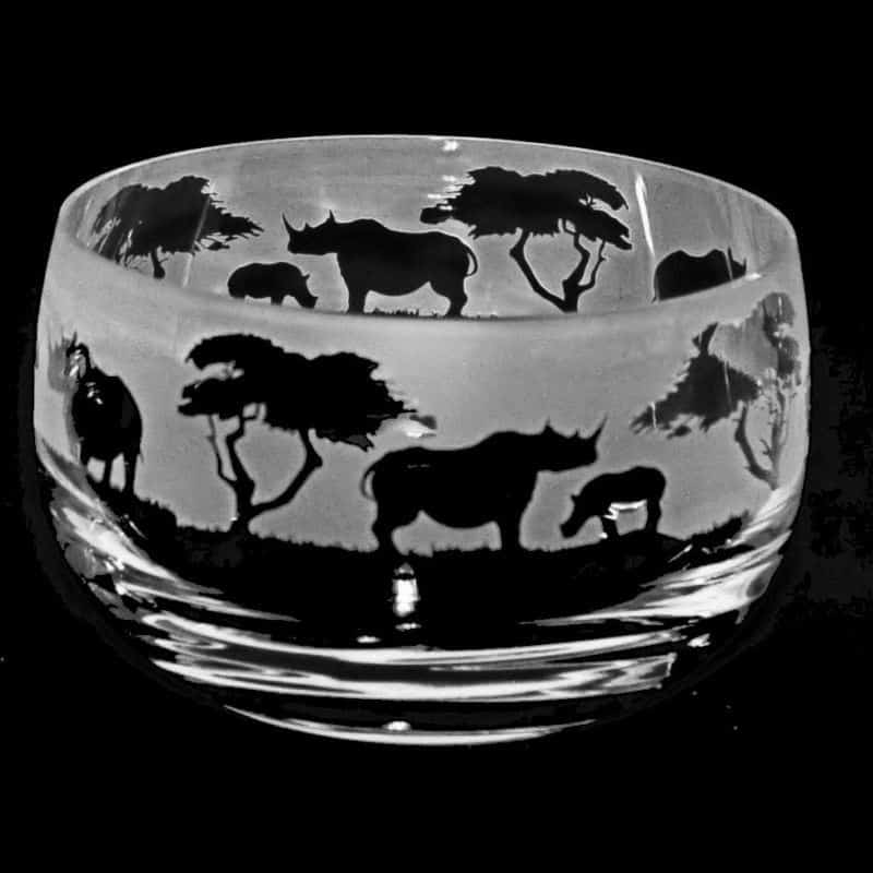 RHINO Small Crystal Glass Bowl