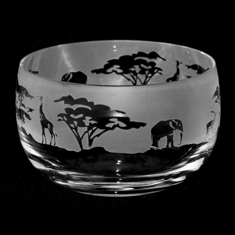 SAFARI Small Crystal Glass Bowl