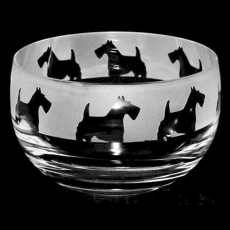 SCOTTIE Small Crystal Glass Bowl