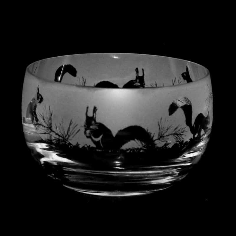 SQUIRREL Small Crystal Glass Bowl