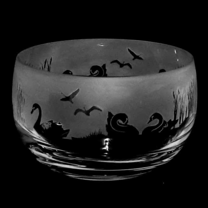 SWAN Small Crystal Glass Bowl