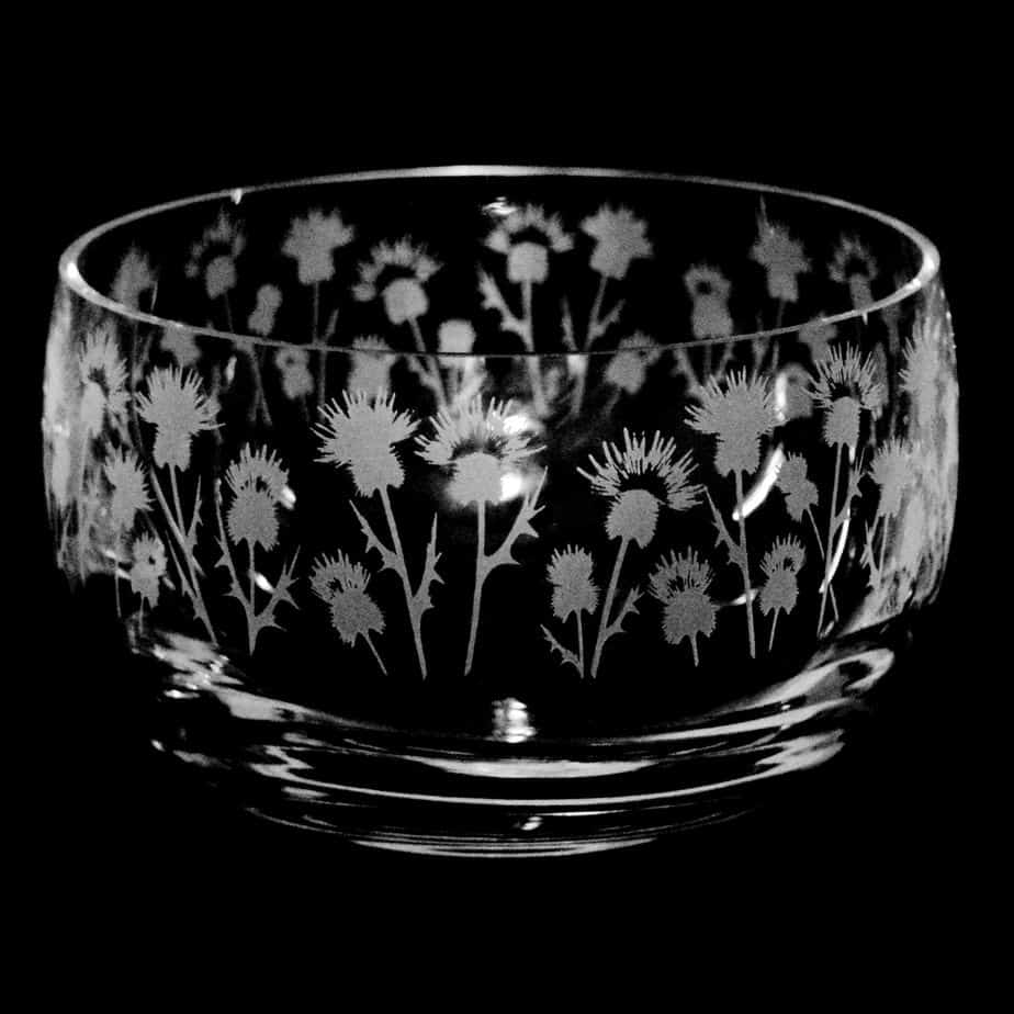 THISTLE Small Crystal Glass Bowl