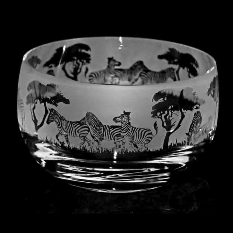 ZEBRA Small Crystal Glass Bowl