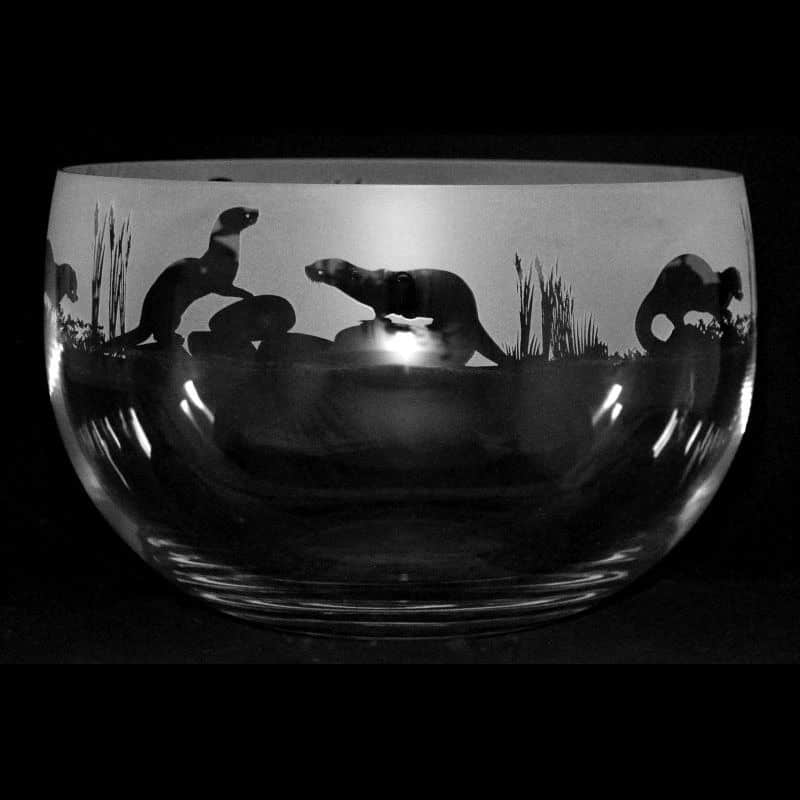 OTTER Large Crystal Glass Bowl
