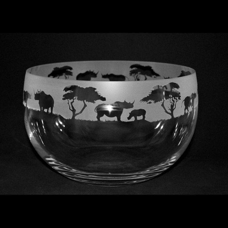 RHINO Medium Crystal Glass Bowl