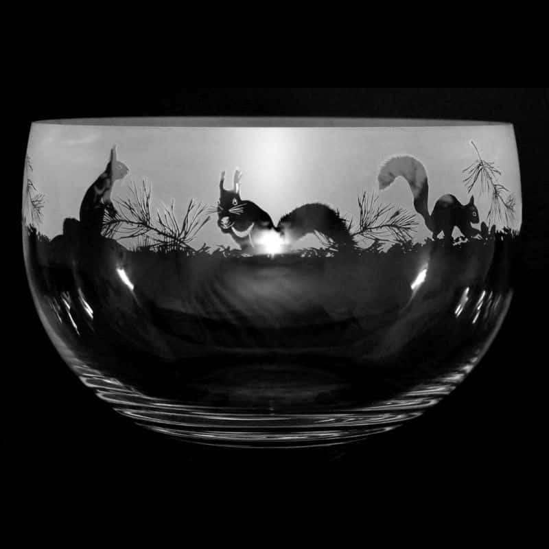 SQUIRREL Large Crystal Glass Bowl