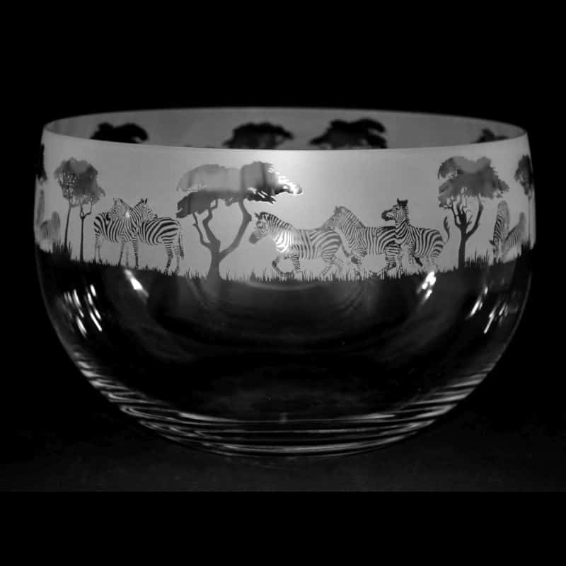 ZEBRA Medium Crystal Glass Bowl