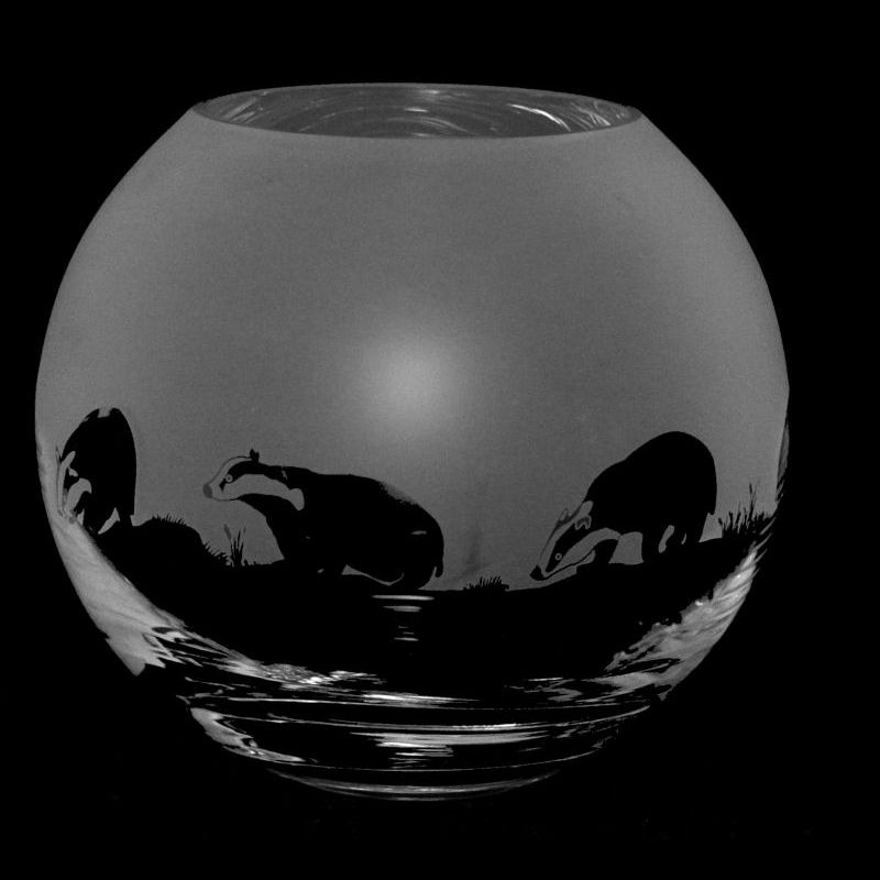 BADGER Small Crystal Glass Globe Vase