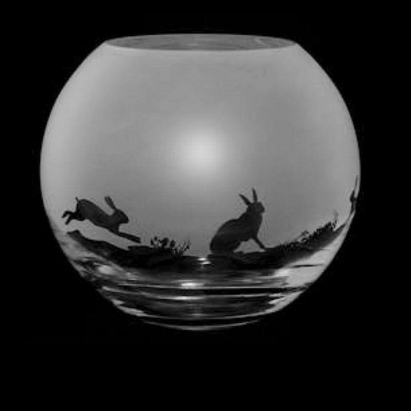 HARE Small Crystal Glass Globe Vase
