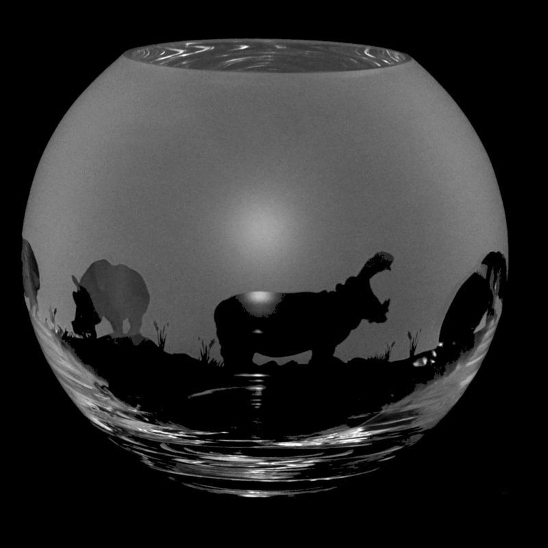 HIPPO Small Crystal Glass Globe Vase