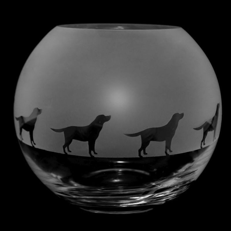LABRADOR Small Crystal Glass Globe Vase