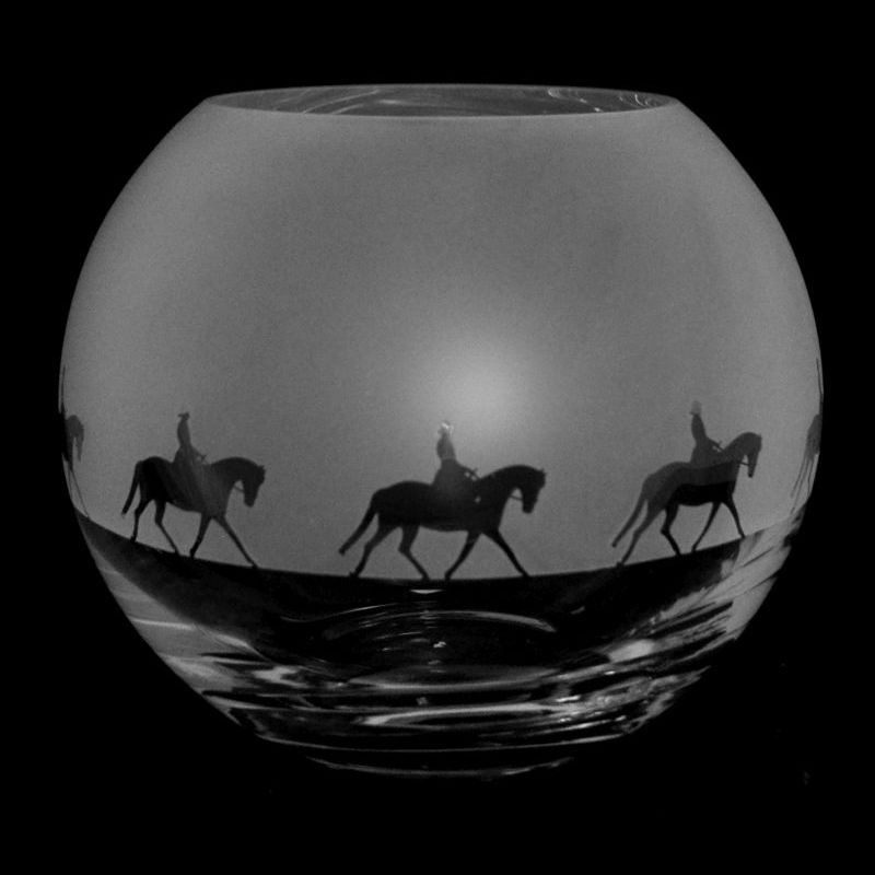 LADY DRESSAGE Small Crystal Glass Globe Vase