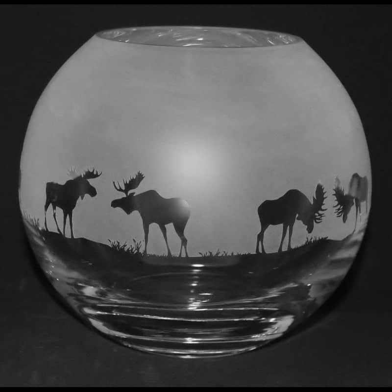 MOOSE Small Crystal Glass Globe Vase