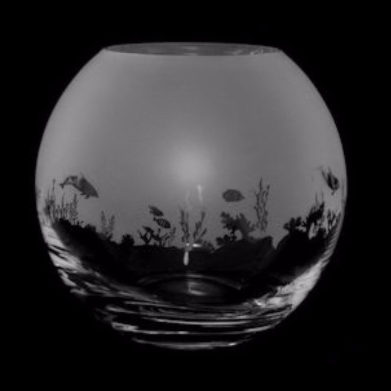 SEASCAPE Small Crystal Glass Globe Vase