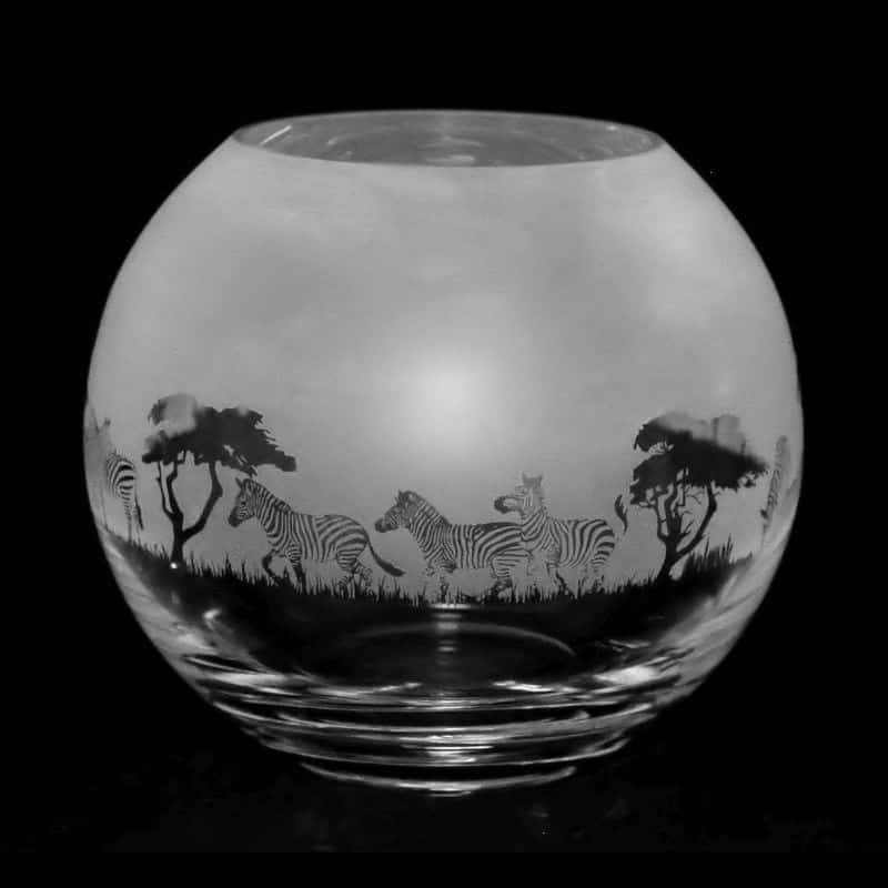 ZEBRA Small Crystal Glass Globe Vase