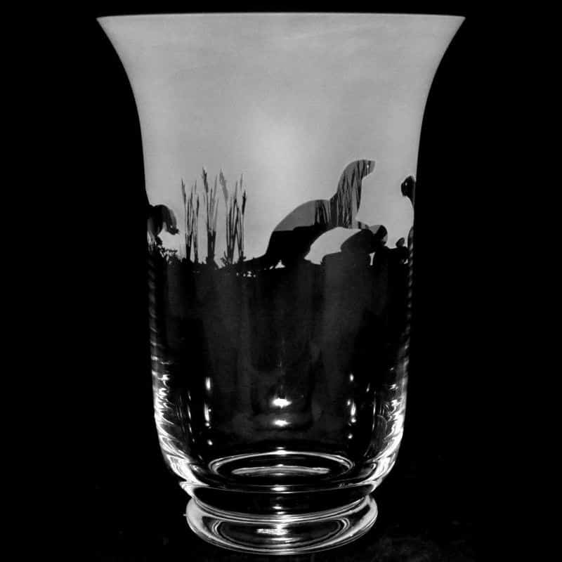 OTTER 23.5cm Crystal Glass Vase