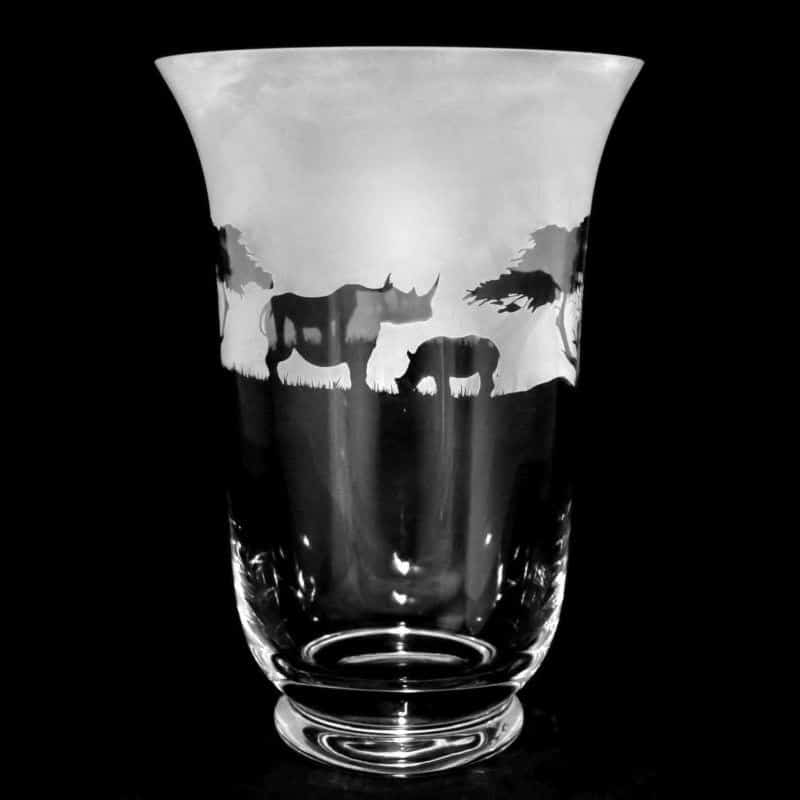 RHINO 23.5cm Crystal Glass Vase