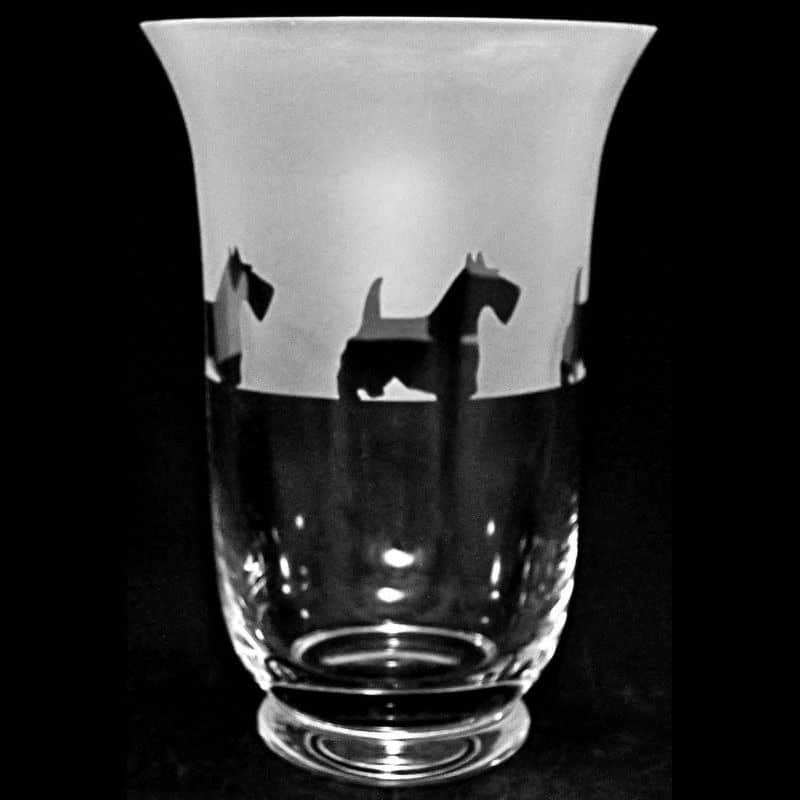 SCOTTIE 23.5cm Crystal Glass Vase