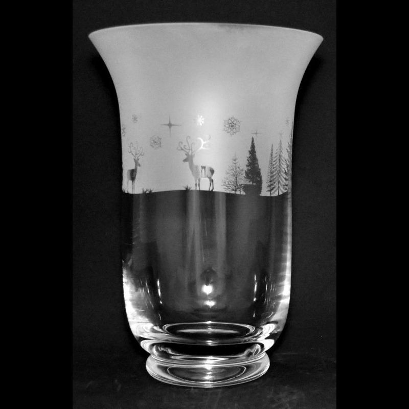 WINTER WONDERLAND 23.5cm Crystal Glass Vase