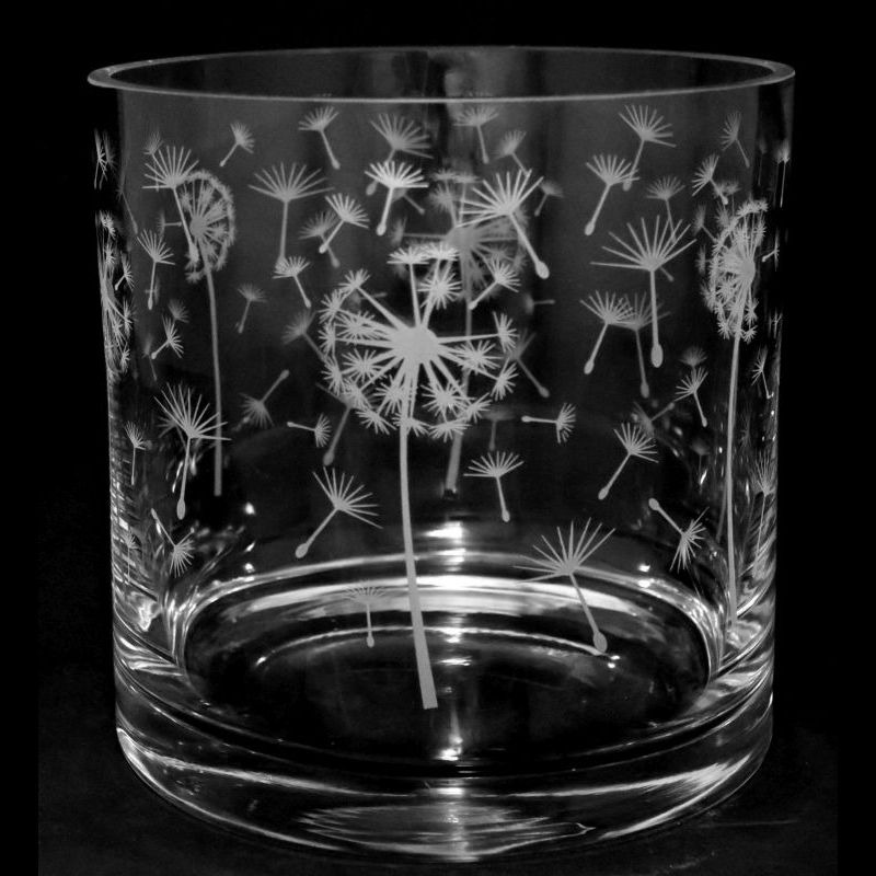 Dandelion 17cm Glass Column Vase Candleholder Animo Glass