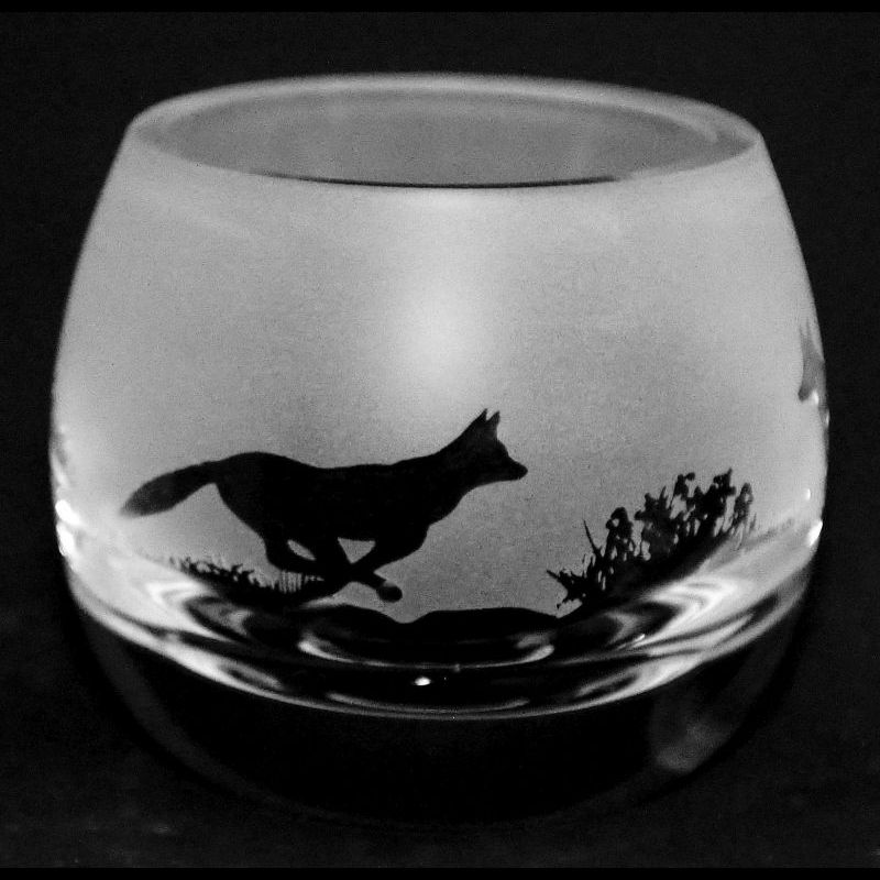 FOX Crystal Glass Tea Light Holder