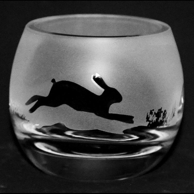 HARE Crystal Glass Tea Light Holder
