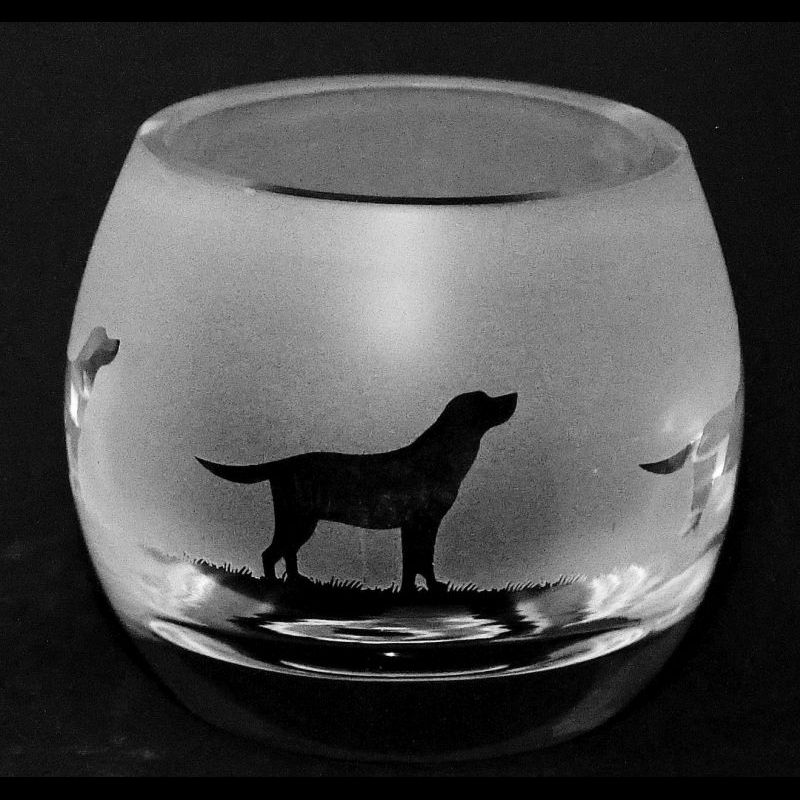 LABRADOR Crystal Glass Tea Light Holder