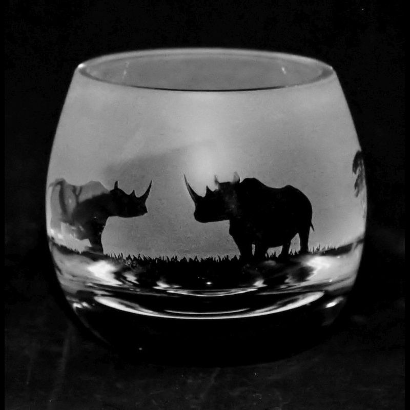 RHINO Crystal Glass Tea Light Holder