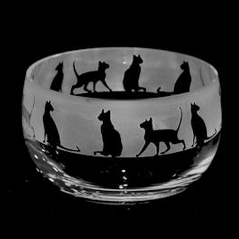 SIAMESE Small Crystal Glass Bowl