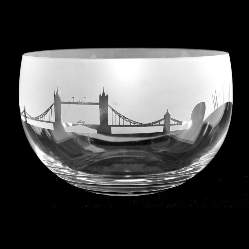 LANDMARK LONDON Small Crystal Glass Bowl