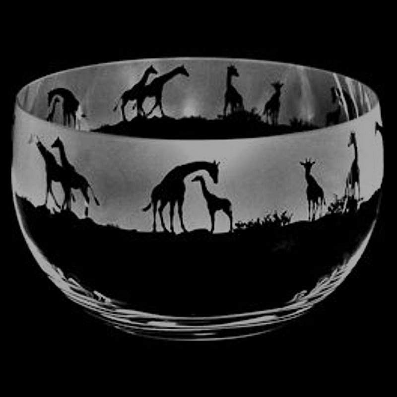 GIRAFFE Medium Crystal Glass Bowl