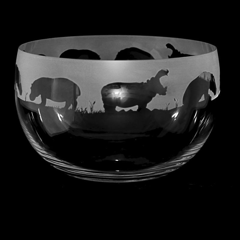 HIPPO Large Crystal Glass Bowl